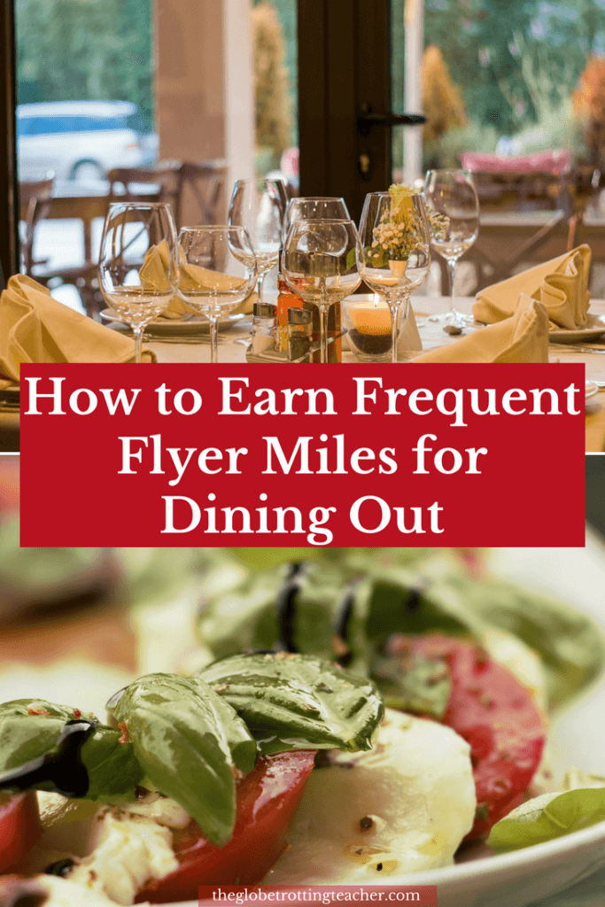 Earning With Dining Programs Pinterest Pin