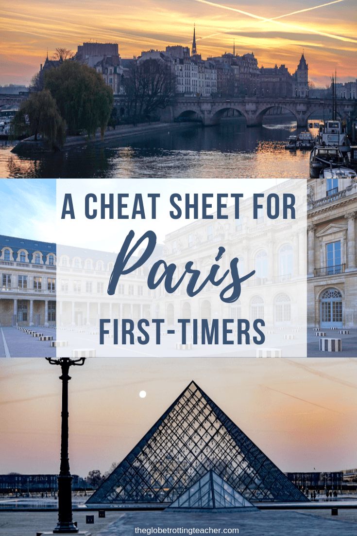 A Cheat Sheet for Paris First-Timers Pinterest Pin