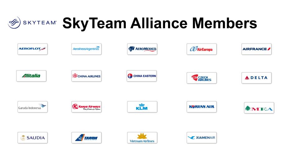 SkyTeam Alliance 2020