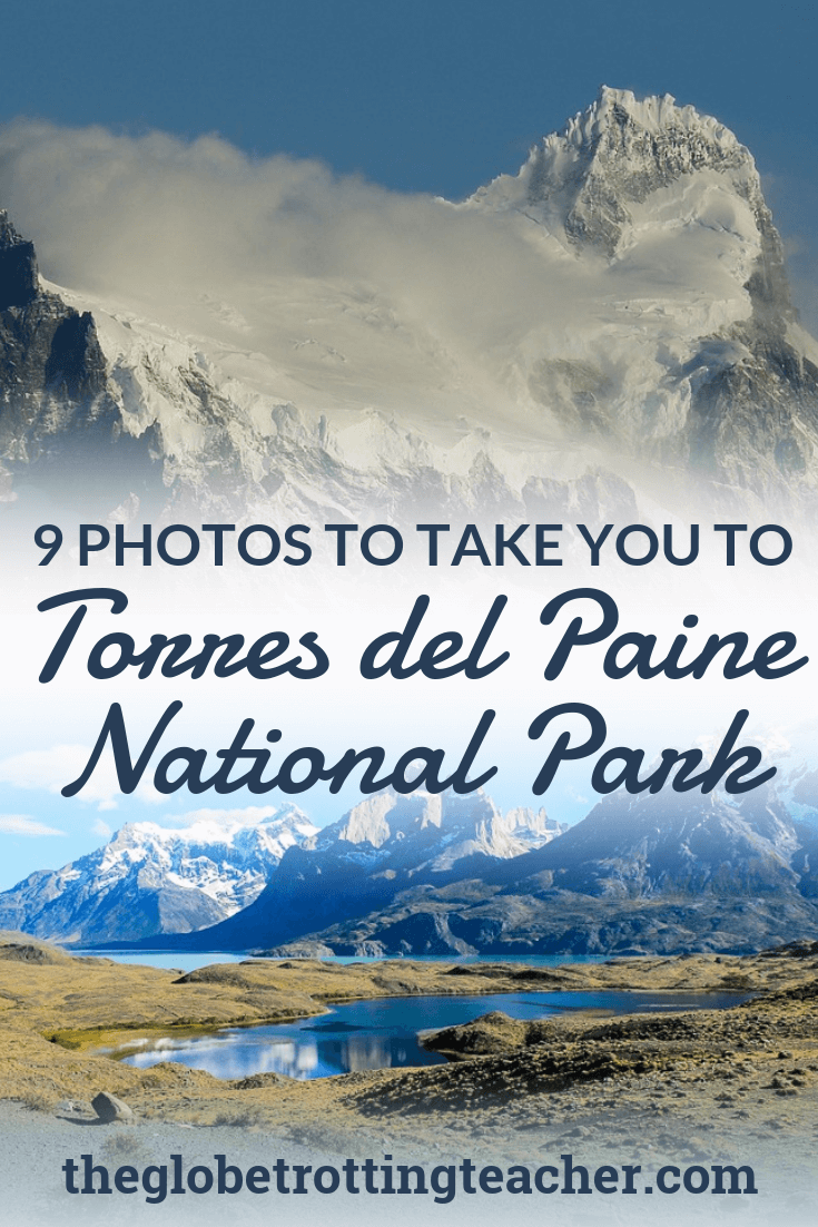 9 Photos to Take You to Torres del Paine National Park - Dreaming of a trip to Patagonia? Torres del Paine is on the Chile side of Patagonia full of jagged mountains, snow-capped peaks, glaciers, and turquoise lakes. This photo travel guide will capture your wanderlust and inspire you to travel to Patagonia! #travel #chile #patagonia