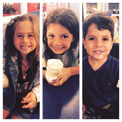 Ice cream always gets a smile!