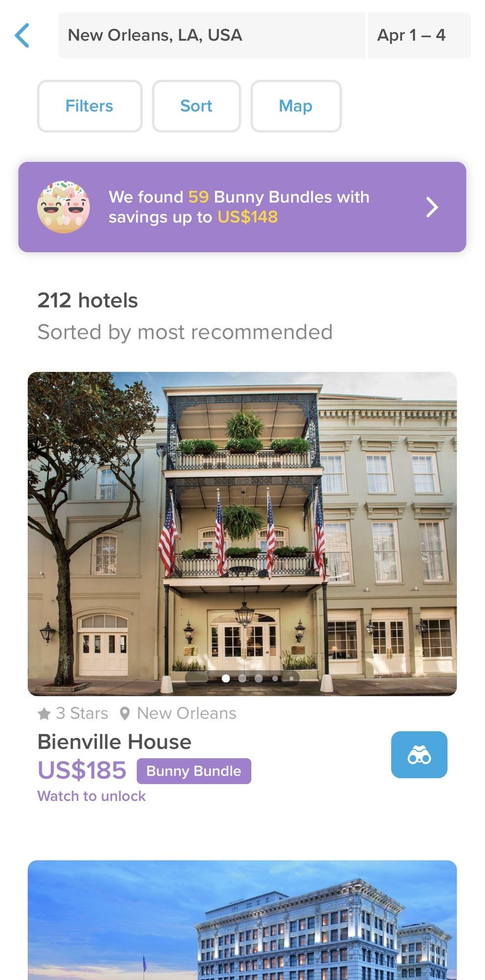 Hopper Hotels List