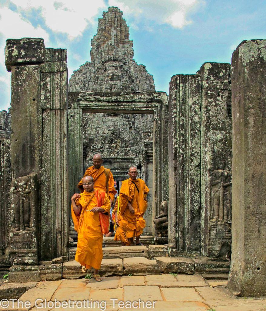 Cambodia Monks at the Bayon