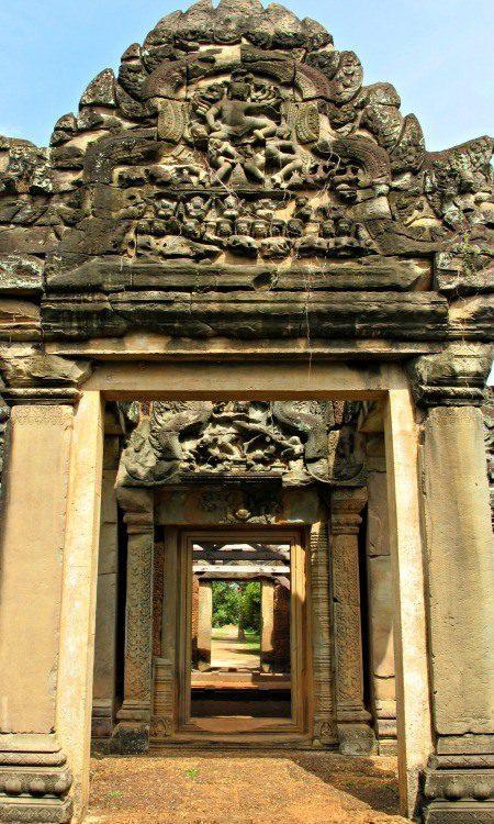 Ornate detail at Angkor Wat Temples