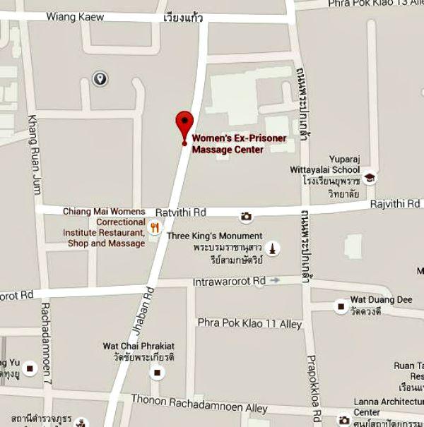 Google Map Ex-Prisoners Massage Center
