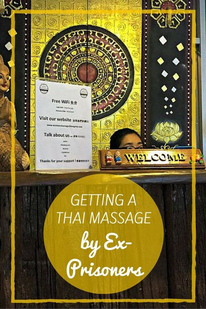 Getting a Thai Massage by Ex-Prisoners