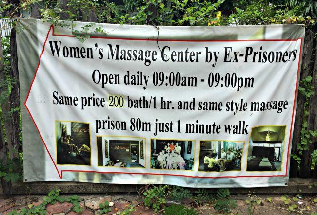 Ex-prisoners massage