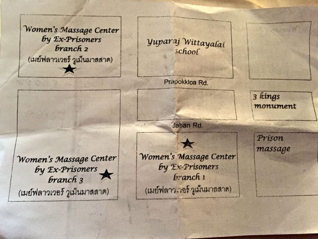 Ex-Prisoners Massage Center locations