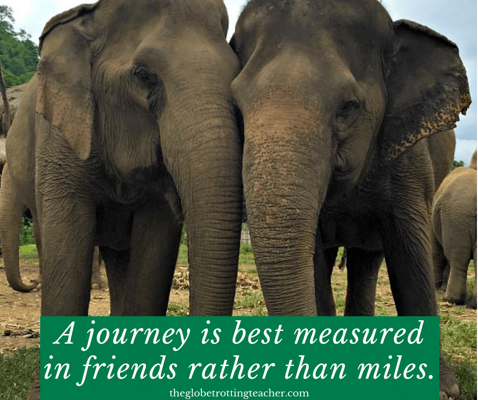 quotes about travel with friends A JOURNEY IS BEST MEASURED IN FRIENDS RATHER THAN MILES.