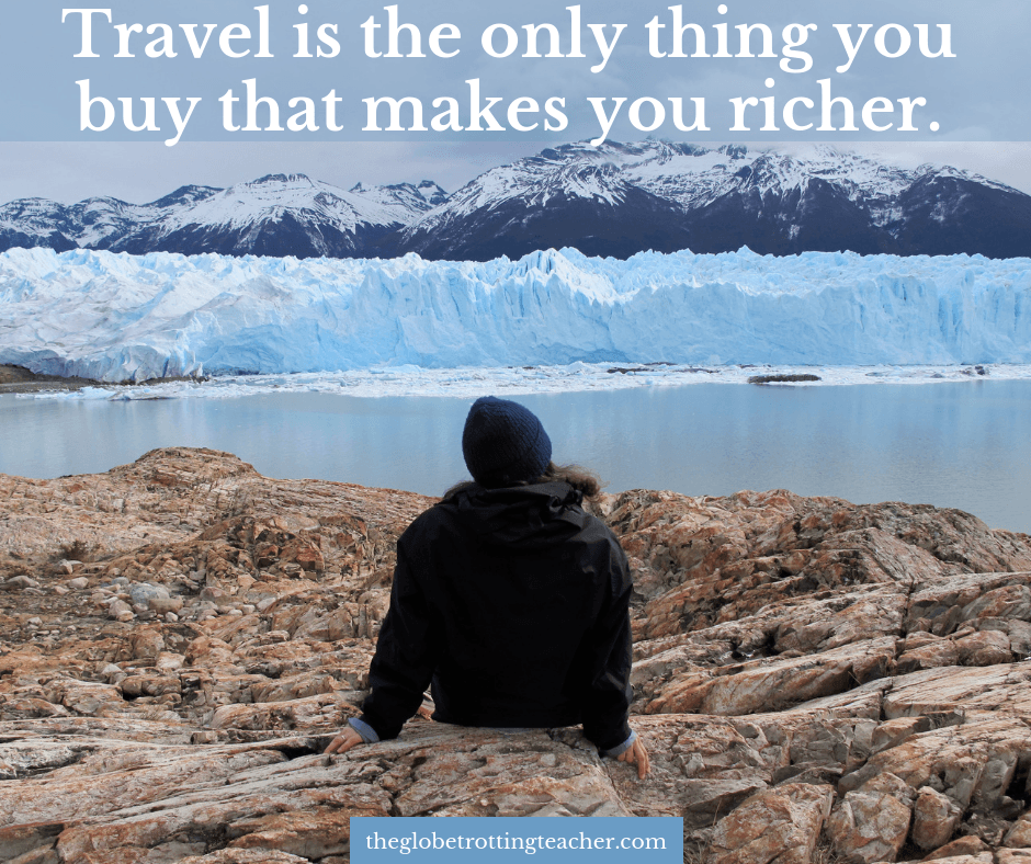 Quotes About Traveling Alone - Travel is the only thing you buy that makes you richer