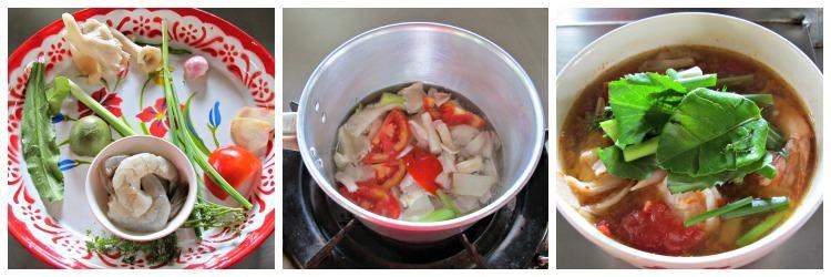 Thai Cooking tom Yum Collage