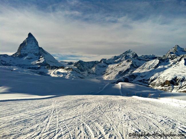 Skiing in Zermatt Switzerland