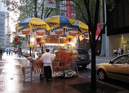 New York hot dog vendor photo