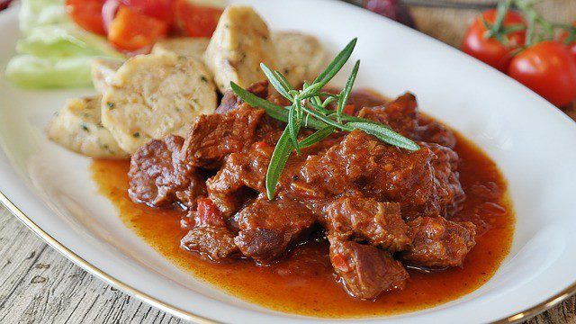 Hungarian Goulash in Budapest