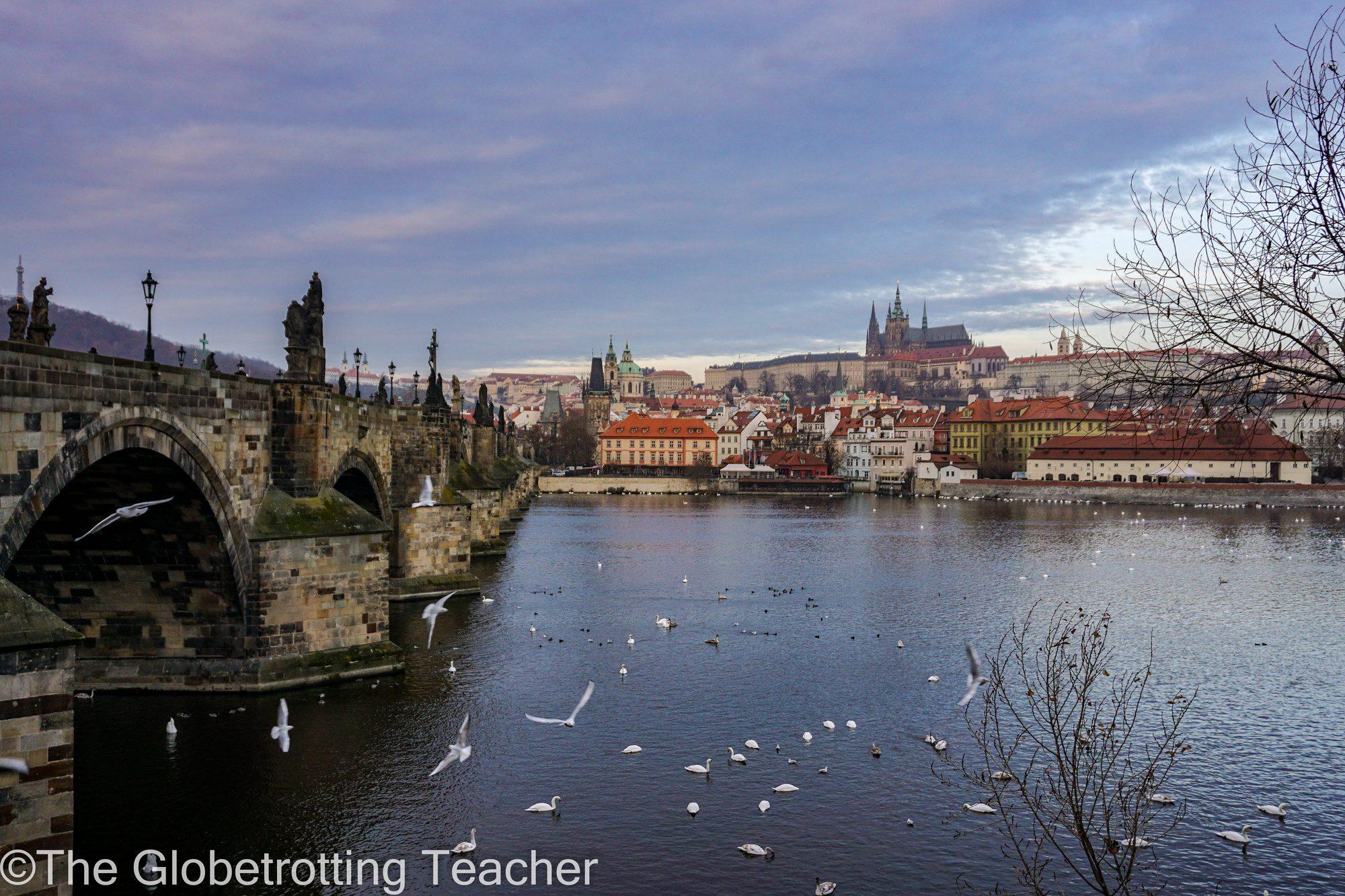Prague view St. Charles Bridge