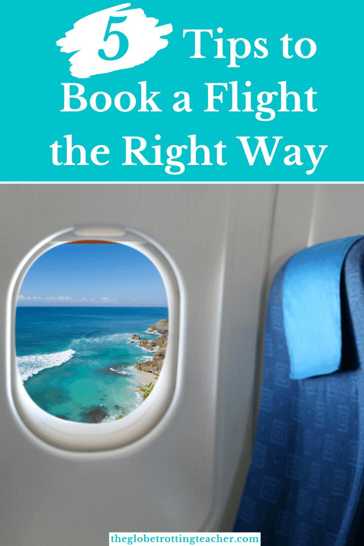 5 Tips to Book a Flight Pinterest Pin