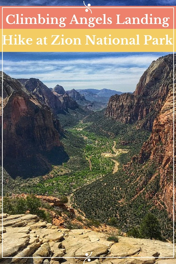 Climbing to Angels Landing at Zion National Park