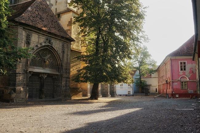 Brasov Black Church Courtyard