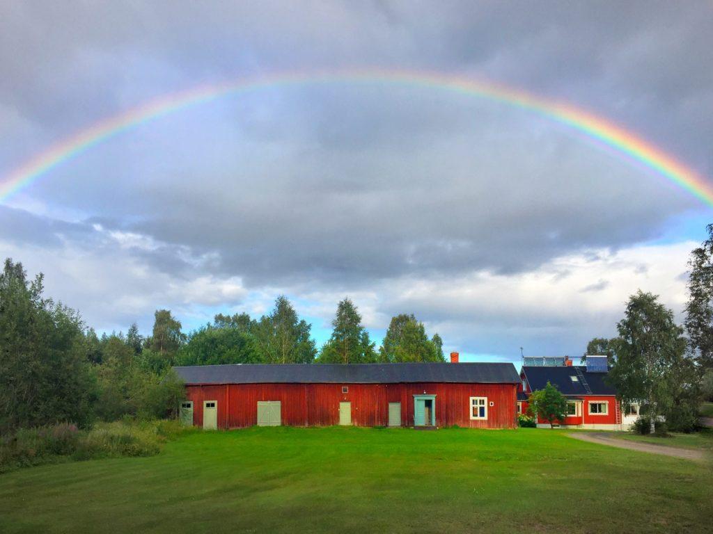 Skelleftea Swedish Lapland Rainbow