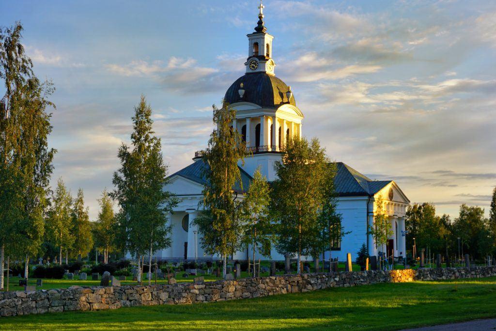 Skelleftea Swedish Lapland Country Church