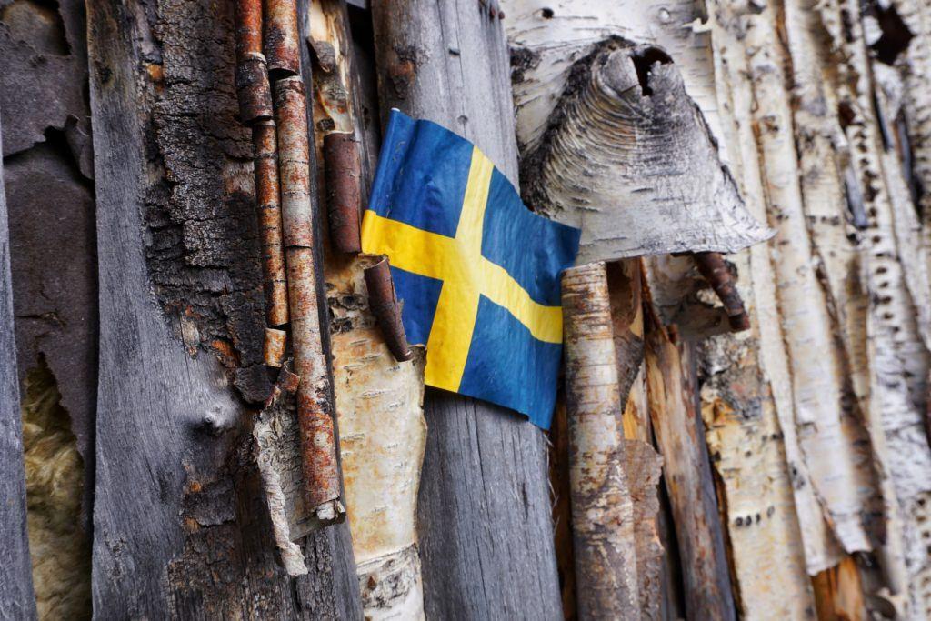 Skelleftea Swedish Lapland Flag