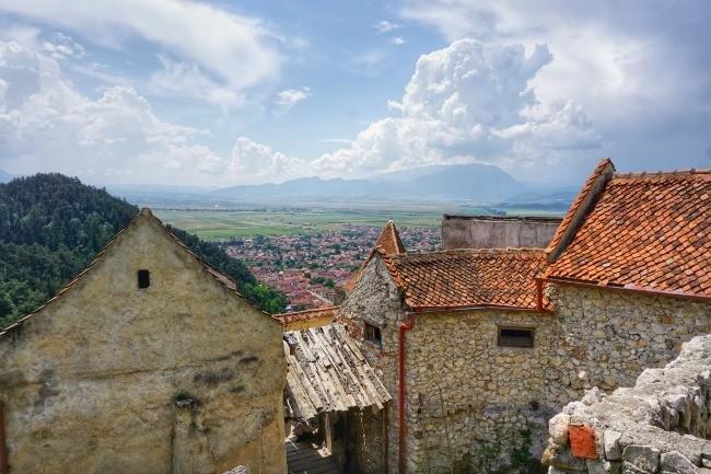 Rasnov Fortress Buildings View