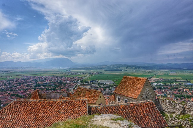 View from Rasnov Fortress