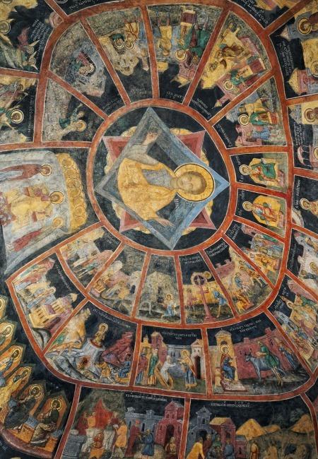 Sinaia Monastery Ceiling Romania