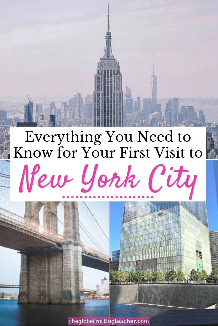 Everything you need to know for your first visit to New York City Pinterest Pin