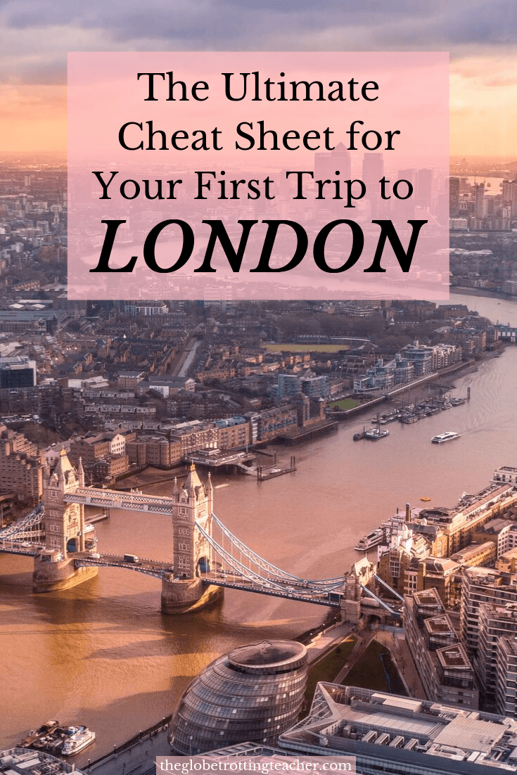 The Ultimate Cheat Sheet for Your First Trip to London Pinterest Pin
