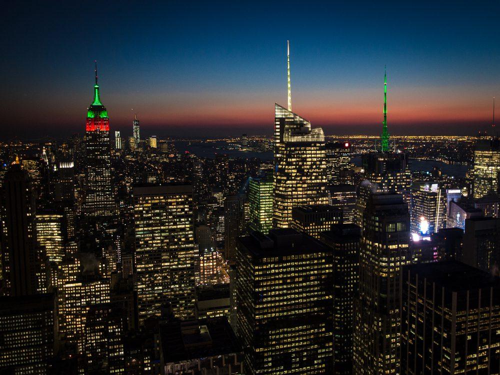 NYC Christmas Skyline