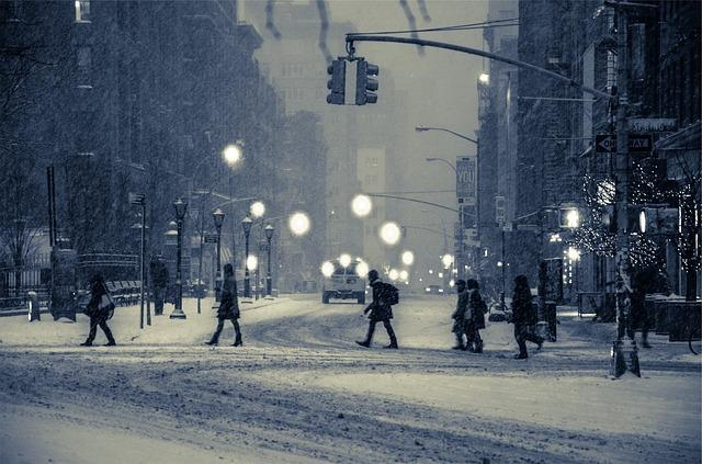 city winter snow