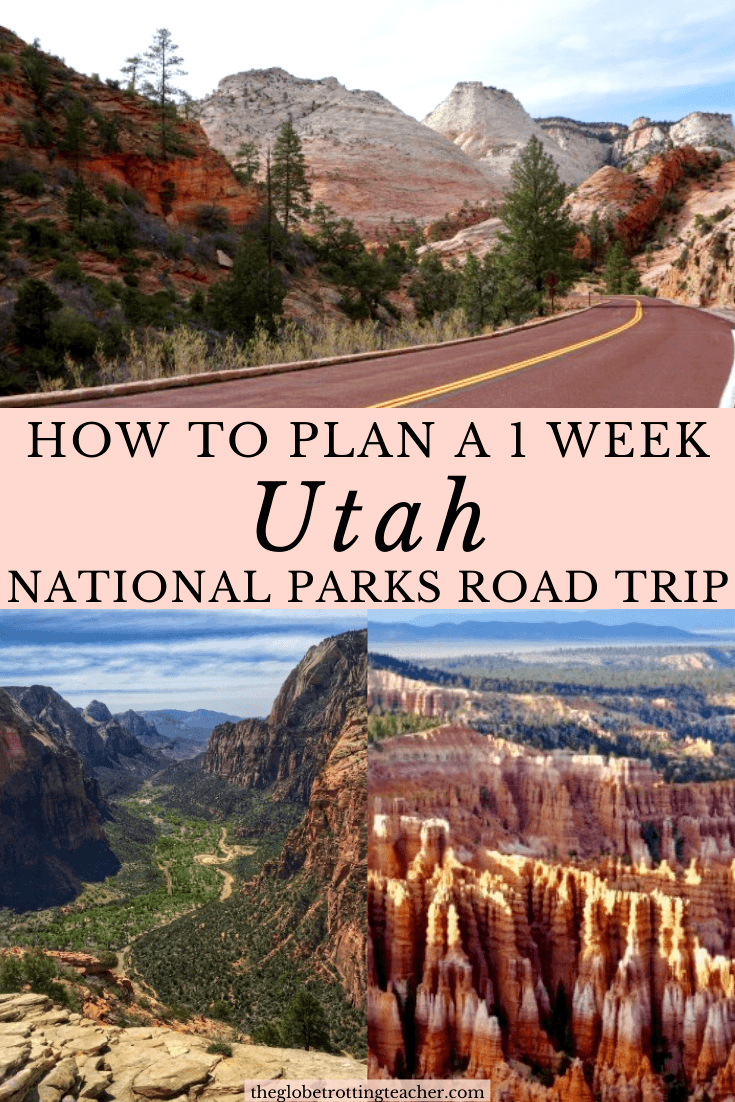 How to Plan a Successful 1 Week Utah National Park Road Trip Itinerary Pin