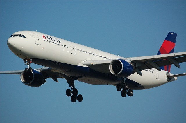 Airplane Delta stock