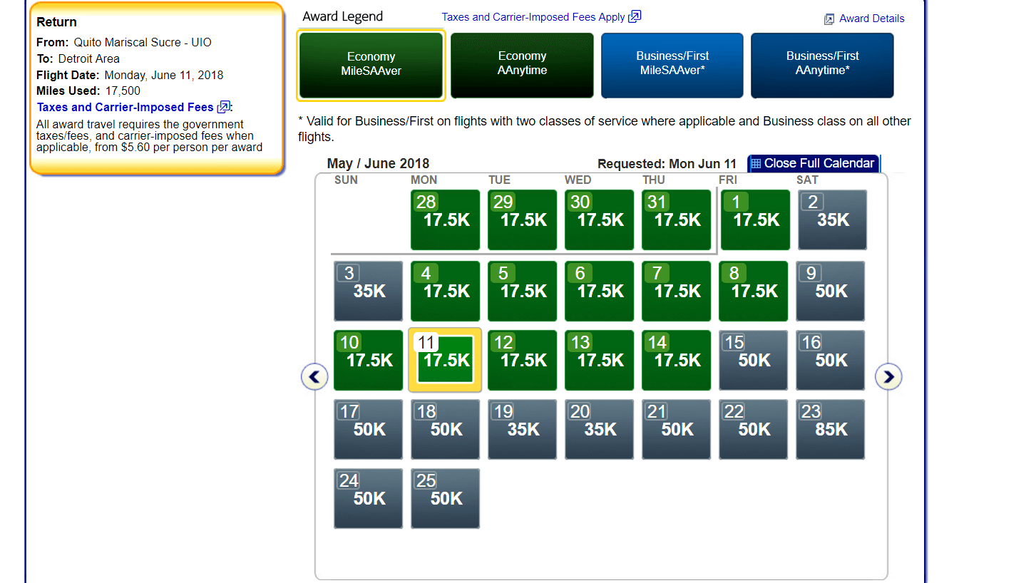 Getting to Ecuador with airline miles