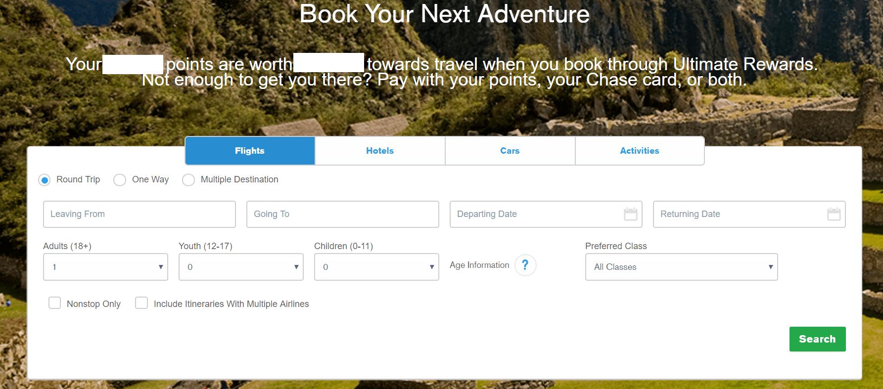 Chase UR Travel Portal 2