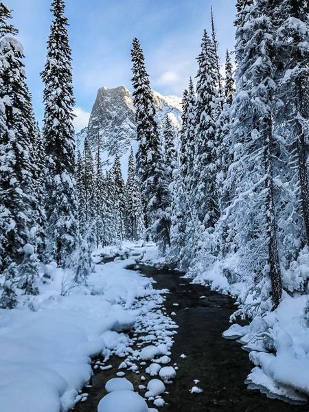 Banff Winter - Emerald Lake Yoho National Park