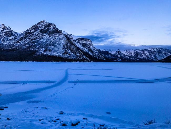 Banff Winter -Frozen Lake Minnewanka