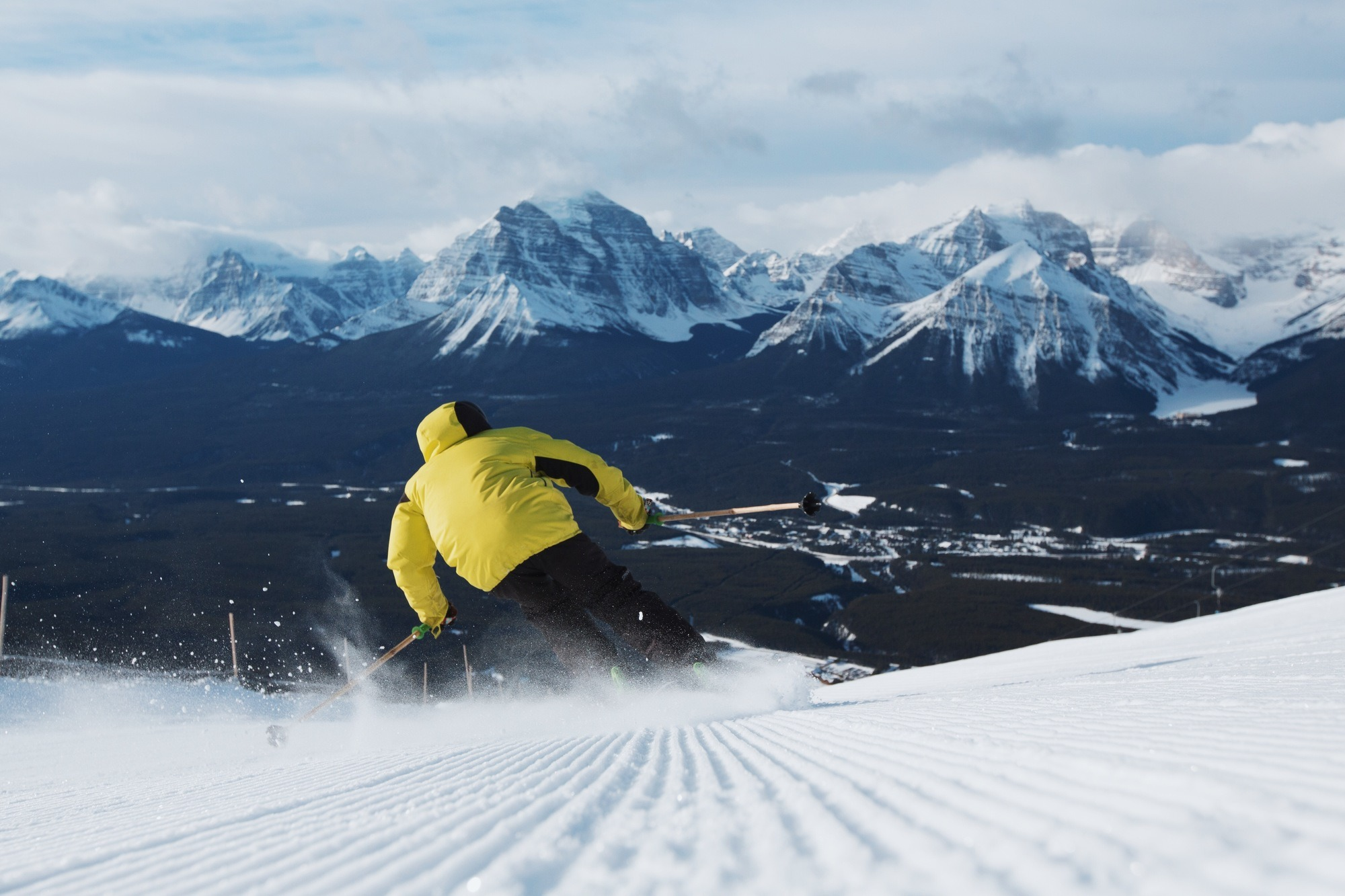 Banff Winter - Skiing at Lake Louise