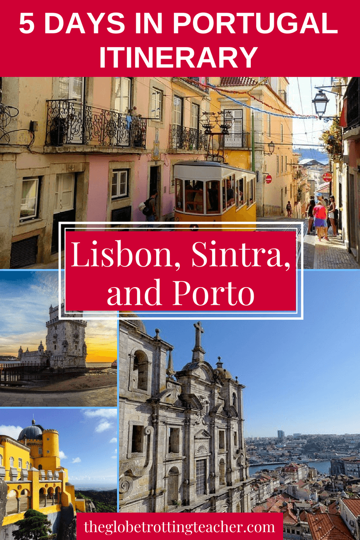 5 Day Portugal Itinerary- Lisbon, Sintra, & Porto- This in-depth guide has everything you need to plan a trip to Portugal including maps, things to do, detailed itinerary advice, where to stay, and tips for a successful trip to Portugal. #travel #portugal #europe #sintra #lisbon #porto