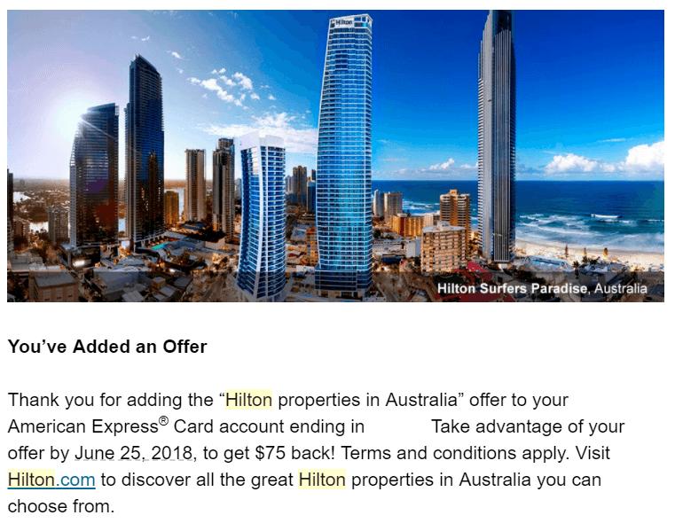 Amex Hilton Offer