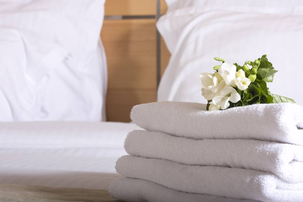 Hotel Bed with Towels