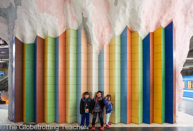 stockholm subway art