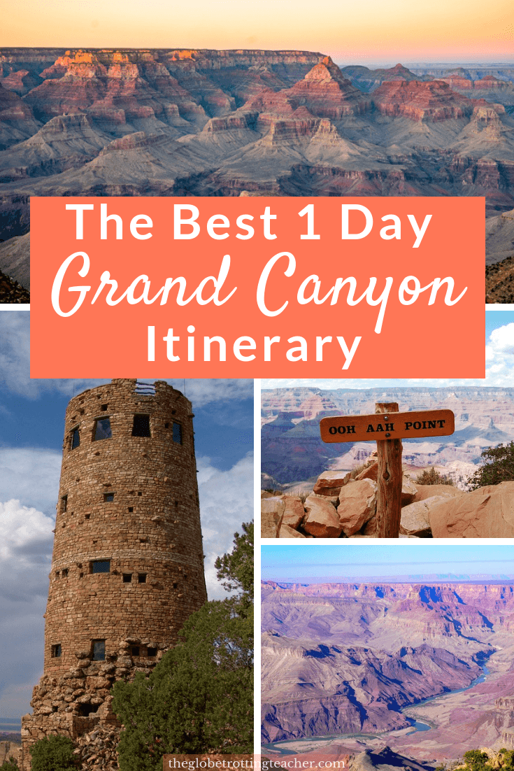 How to Spend 1 Day at the Grand Canyon - Planning a trip to the Grand Canyon? Base yourself in Flagstaff and spend a full day on the South Rim. Use this guide to plan the best things to do at the Grand Canyon, how to get around, where to stay, and must-know Grand Canyon travel tips for a successful visit! #travel #usa #arizona #grandcanyon