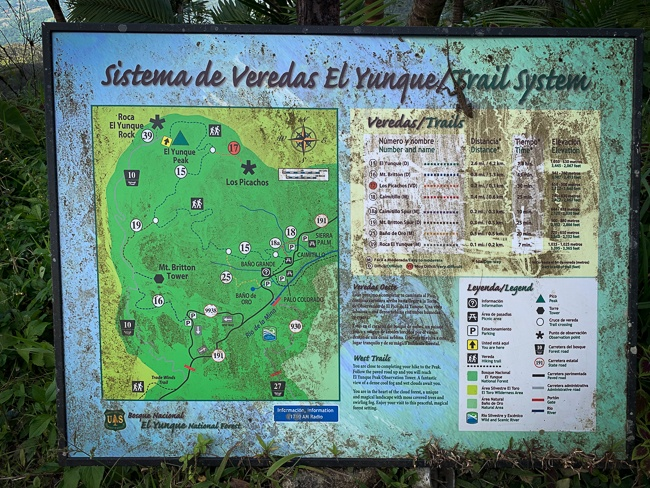 map of El Yunque national forest