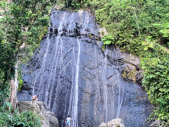 El Yunque waterfalls in Puerto Rico