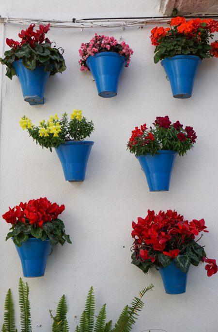 Cordoba Spain Hanging Flower Pots