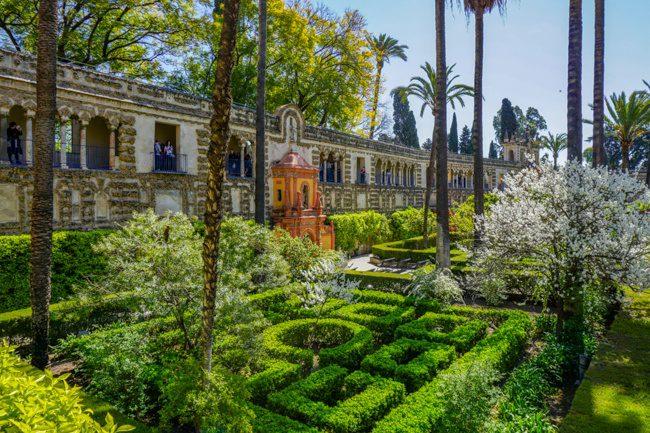 Seville Spain Real Alcazar Gardens