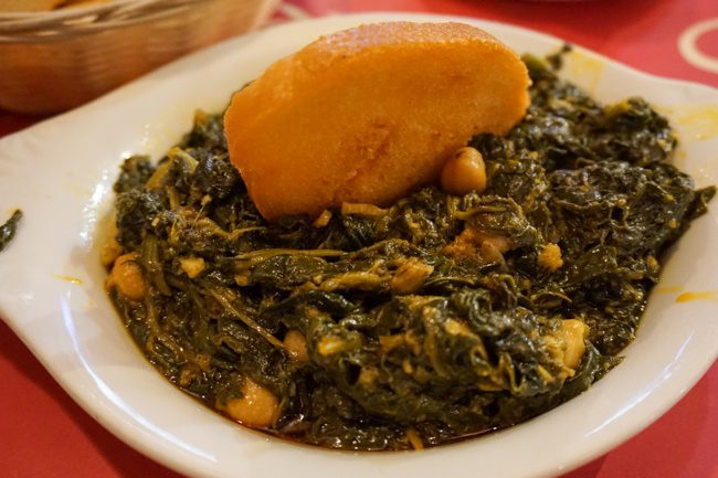 Seville Spain Spinach with Garbanzo Beans