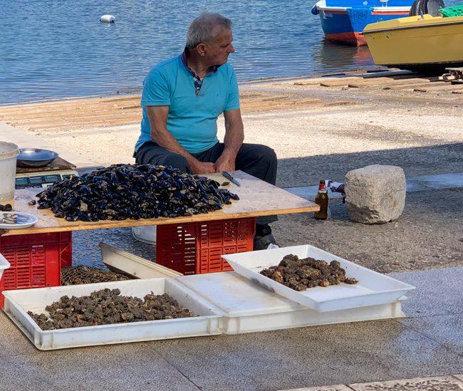 Bari Italy Fisherman at Porto Vecchio